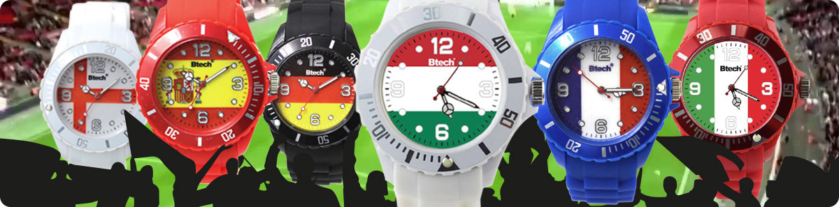 Btech silicone sports fan watches banner